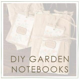 DIY Garden Notebooks Project